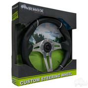 "Yamaha 13"" CHALLENGER Brushed Aluminum Golf Cart Steering Wheel"