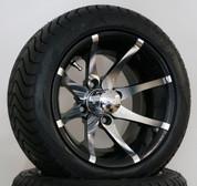 "12"" KRAKEN Wheel and Low Profile DOT Tires Combo"