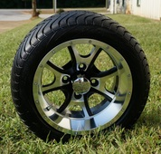 "12"" PREDATOR Wheel and Low Profile DOT Tire Combo"