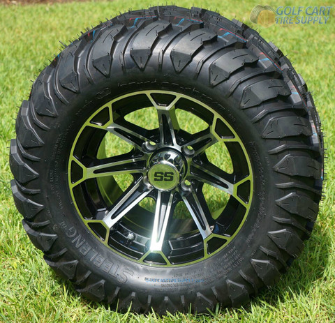 "12"" FANG Machined Aluminum Wheels and 22"" Crawler All Terrain Tires"
