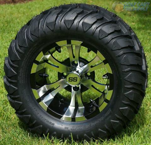 "12"" VAMPIRE Machined Aluminum Wheels and 22x11-12 Mud Terrain Tires"