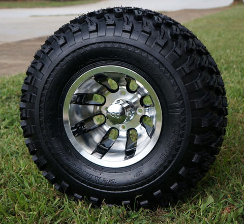 "10"" REVOLVER Wheel and 22"" All Terrain Tire combo"