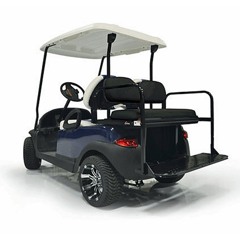 EZGO RXV Mach 2 GTW Aluminum Rear Seat Kit - BLACK