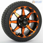 "14"" STI HD6 Radiant ORANGE Wheels & 215/35-14 Tires Combo"