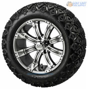 """14"""" TEMPEST Gunmetal Wheels and 23"""" All Terrain Tires Combo"""