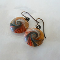 SWIRL STONE STUDIO Fire Namiko Earrings