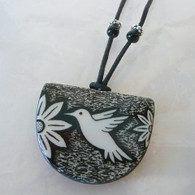 VIRGINIA MISKA CERAMIC JEWELRY Hummingbird Necklace