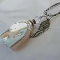 ANGEL PAW FUR-EVER BELL Rainbow Swarovski Crystal Necklace 1002