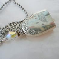 ANGEL PAW FUR-EVER BELL Rainbow Swarovski Crystal Necklace 1000