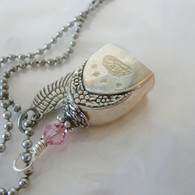 ANGEL PAW FUR-EVER BELL  Pink Swarovski Crystal Necklace 0071