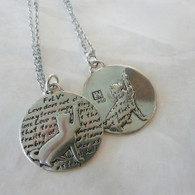 KEVIN N ANNA FeLV+ Cat Silver Pendant