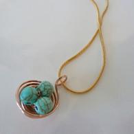 LeDance Robin's Copper Nest Necklace