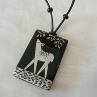 VIRGINIA MISKA CERAMIC JEWELRY Deer Necklace