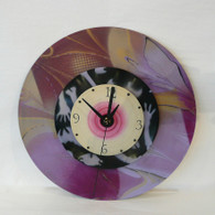 DEBORAH DICKINSON Layered Lavender Triple Wall Clock
