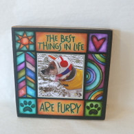 MACONE STUDIO BEST THINGS FURRY  WOOD PICTURE FRAME
