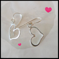 THOMAS KUHNER JEWELRY Sterling Silver Heart Earrings