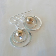 THOMAS KUHNER JEWELRY Sterling Concentric Circles Earrings