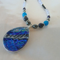 SEA OF GLASS Ice Blue Statement Necklace