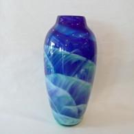 MARK ROSENBAUM ART GLASS VASE Dreamscape Vase Blue/Green