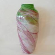 MARK ROSENBAUM ART GLASS VASE Dreamscape Vase Pink/Green
