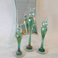 MARK ROSENBAUM ART Trio Green Candle Sticks
