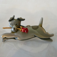 Jack Russell with rose Pin and Pendant Handmade in the USA