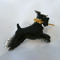 Schnauzer with rose of love pin & pendant Handmade in the USA