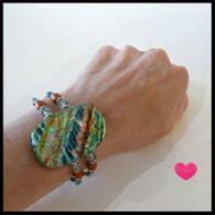 SEA OF GLASS Faux Silk Bracelet