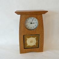 SCHLABAUGH & SONS Arts & Crafts Tile Clock