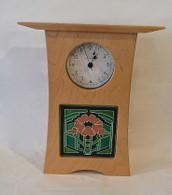 SCHLABAUGH & SONS Cherry Arts & Crafts Tile Clock