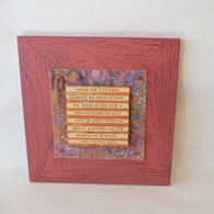 new baby gift handcrafted on painted wood - wall hanging, handmade in the USA