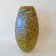 FIELDS & FIELDS ART GLASS Sky & Mountain Closed Lip Vase