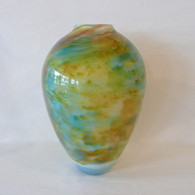 FIELDS & FIELDS ART GLASS Blown Glass Fall Meadow Vase $325.00