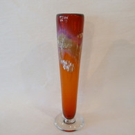 NICHOLSON BLOWN GLASS Tangerine Bud Vase
