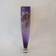 NICHOLSON BLOWN GLASS Amethyst Bud Vase