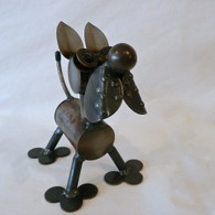 Great Dane Sculpture handcrafted from recycled auto parts Handmade in the USA