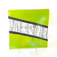 CHRIS PAULSON GLASS Lime Square Tray