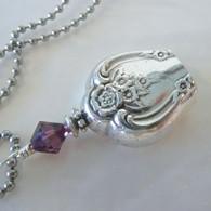 ANGEL BELL NECKLACE Amethyst Swarovski Crystal 1953 Magnolia Necklace 165