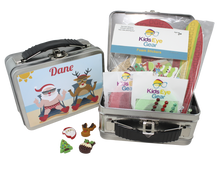 Set comes with 1 x case, 20xpatches OR fabric patch, blings, 4 x Christmas Blinx, and a patching craft activity
