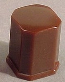Philco Brown 5/8 Pushbutton (Item: PB-PHIL41-B)