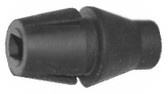 Black Rubber Strain Relief - 18AWG (Item: PCSR-1)