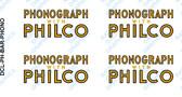 "Radiobar ""PHONOGRAPH with PHILCO"" Decal (Item: DCL-PH-BAR-PHONO)"