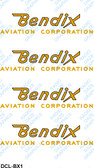 Bendix Logo Decal Set (Item: DCL-BX1)