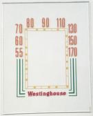 Canadian Westinghouse Model 568 Dial Glass (Item: DG-390)