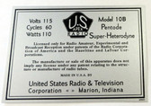 Apex Model 10B Chassis Label (LBL-APEX-10B)