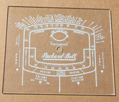 Dial image taken against tan/brown background to illustrate white dial print. Dial glass is clear other than dial scale.