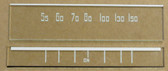 Dial images taken against a tan/brown background to illustrate white dial print. Dials are clear glass other than printing.