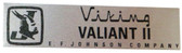 Johnson Viking Valiant II Nameplate (NP-EFJ-VALIANTII)