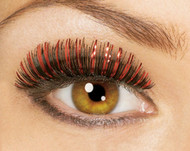 Small Red and Black Tinsel Eyelashes