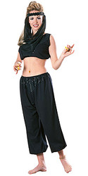 Belly Dancer Costume, Adult Arabian Harem Black